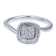 14k White Gold Lotus Fashion Ladies' Ring angle 1