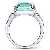 14k White Gold Lusso Color Classic Ladies' Ring angle 2