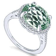 14k White Gold Lusso Color Classic Ladies' Ring angle 3