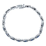 14k White Gold Lusso Color Tennis Bracelet