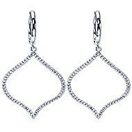 14k White Gold Lusso Diamond Drop Earrings angle 1