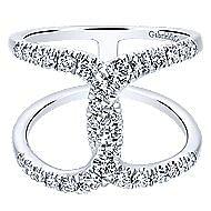 14k White Gold Lusso Diamond Fashion Ladies' Ring angle 1