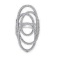 14k White Gold Lusso Diamond Statement Ladies' Ring angle 1