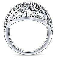 14k White Gold Lusso Diamond Statement Ladies' Ring angle 2