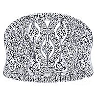 14k White Gold Lusso Diamond Wide Band Ladies' Ring angle 4