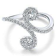 14k White Gold Lusso Fashion Ladies' Ring angle 1