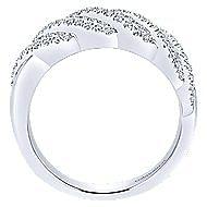 14k White Gold Lusso Fashion Ladies' Ring angle 2