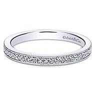 14k White Gold Lusso Midi Ladies Ring