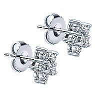 14k White Gold Lusso Stud Earrings