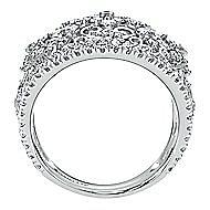 14k White Gold Mediterranean Fashion Ladies' Ring angle 2