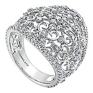 14k White Gold Mediterranean Fashion Ladies' Ring angle 3