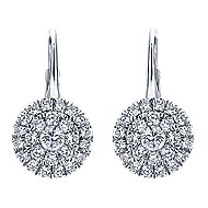 14k White Gold Messier Drop Earrings