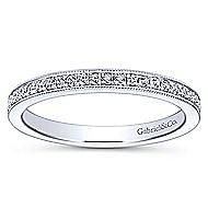 14k White Gold Midi Ladies' Ring angle 4