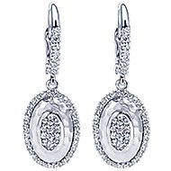 14k White Gold Nature Drop Earrings