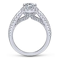 14k White Gold Oval Halo Engagement Ring angle 2