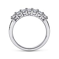 14k White Gold Princess Cut 7 Stone Diamond Anniversary Band angle 2