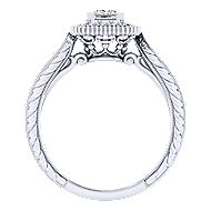 14k White Gold Princess Cut Perfect Match Engagement Ring angle 2
