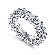 14k White Gold Princess Cut Prong Set Eternity Band