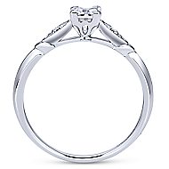 14k White Gold Princess Cut Straight Engagement Ring
