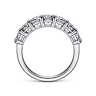 14k White Gold Round 7 Stone Diamond Anniversary Band angle 2