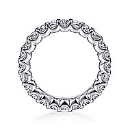 14k White Gold Shared Prong Set Eternity Band