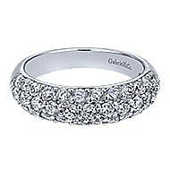 14k White Gold Silk Fashion Ladies' Ring angle 1