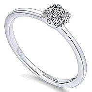 14k White Gold Silk Fashion Ladies' Ring angle 3