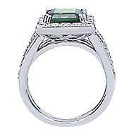14k White Gold Silk Fashion Ladies' Ring angle 2