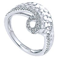 14k White Gold Souviens Fashion Ladies' Ring angle 3