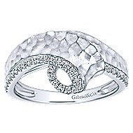 14k White Gold Souviens Fashion Ladies' Ring angle 4