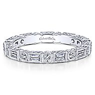 14k White Gold Stackable Eternity Ladies' Ring angle 1