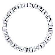 14k White Gold Stackable Eternity Ladies' Ring angle 2