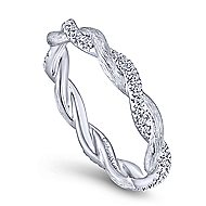 14k White Gold Stackable Eternity Stackable Ladies Ring