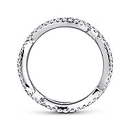 14k White Gold Stackable Eternity Stackable Ladies' Ring angle 2