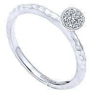 14k White Gold Stackable Fashion Ladies Ring