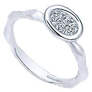 14k White Gold Stackable Fashion Ladies' Ring angle 3