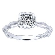 14k White Gold Stackable Fashion Ladies' Ring angle 4