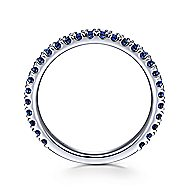 14k White Gold Stackable Sapphire Ladies Ring