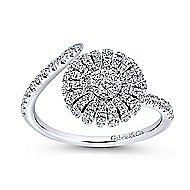 14k White Gold Starlis Fashion Ladies' Ring angle 4