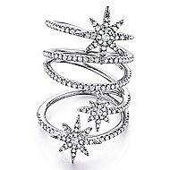14k White Gold Starlis Statement Ladies' Ring angle 1