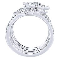 14k White Gold Starlis Statement Ladies' Ring angle 2