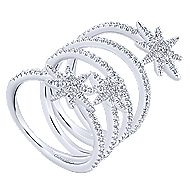 14k White Gold Starlis Statement Ladies' Ring angle 3