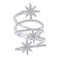 14k White Gold Starlis Statement Ladies' Ring angle 4