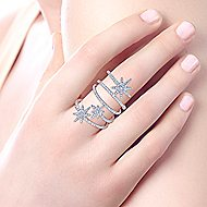 14k White Gold Starlis Statement Ladies' Ring angle 5