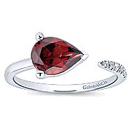 14k White Gold Trends Fashion Ladies' Ring angle 4