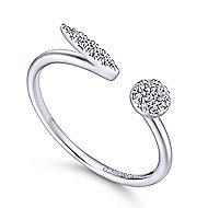 14k White Gold Trends Fashion Ladies' Ring angle 3