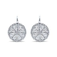 14k White Gold Victorian Drop Earrings angle 1