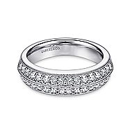 14k White Gold Victorian Fancy Anniversary Band angle 1