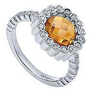14k White Gold Victorian Fashion Ladies' Ring angle 3