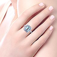 14k White Gold Victorian Fashion Ladies' Ring angle 5